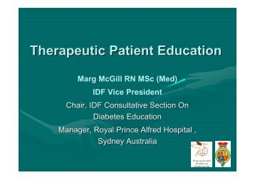 Therapeutic Patient Education
