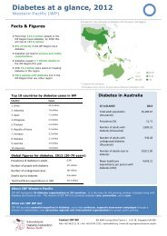 Diabetes at a glance, 2012 - International Diabetes Federation