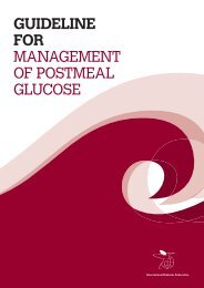 Guideline for ManageMent of PostMeal glucose - International ...