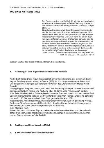 Martin Walser, Tod eines Kritikers (2002) - IDF