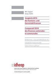 und Gemeindefinanzen Comparatif 2010 des ... - Ville de Genève