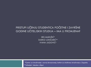 ima li promjena?; Iris Marušić, Darko Lončarić - Institut za društvena ...