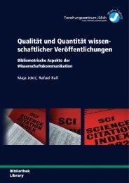 Qualität und Quantität wissen - Publikationsserver der Universität ...