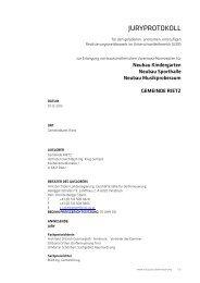 Juryprotokoll Gemeinde Rietz (pdf, 817KB) - architekturwettbewerb