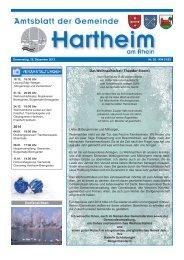 Gemeindeblatt 2013 KW51 - Gemeinde Hartheim