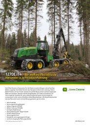 1270E IT4– der weltweit beliebteste Harvester in Achtradausführung