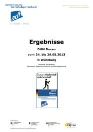 Ergebnisse - Allgemeiner Deutscher Hochschulsportverband
