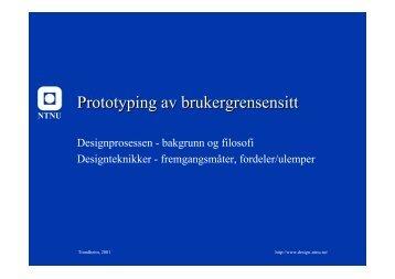 Papirprototyping - NTNU