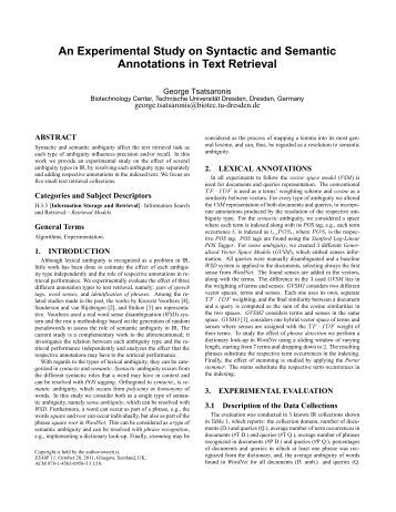 An Experimental Study on Syntactic and Semantic Annotations in ...