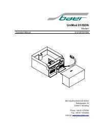Unimod 01/ISDN - Baer Gmbh