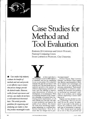 case study tools Tools of change provides proven methods for promoting health, safety and environmental citizenship - case studies.