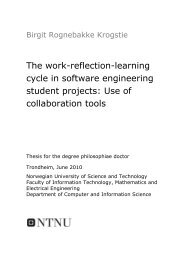 The work-reflection-learning cycle - Department of Computer and ...