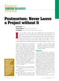 Postmortem: Never Leave a Project Without It - Department of ... - Page 2