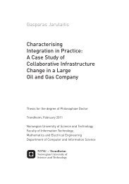 Characterising Integration in Practice - Department of Computer and ...