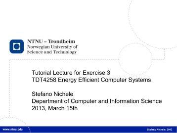 Ingen lysbildetittel - Department of Computer and Information Science