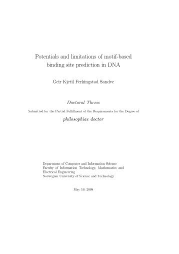Potentials and limitations of motif-based binding site prediction in DNA