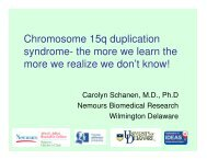 Chromosome 15q duplication syndrome- the more we learn the ...