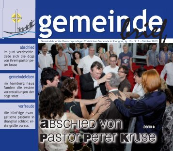 gemeinde - Deutschsprachige Christliche Gemeinde Shanghai