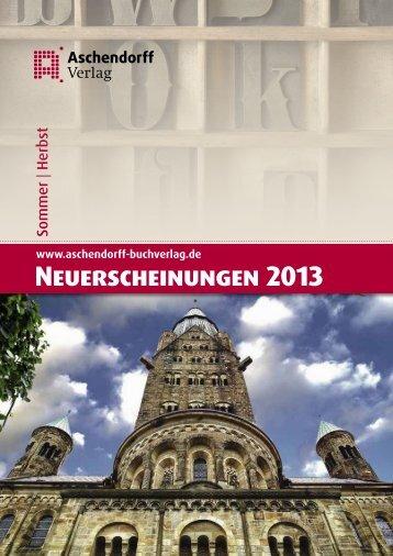 Herbst 2013 - Aschendorff Verlag