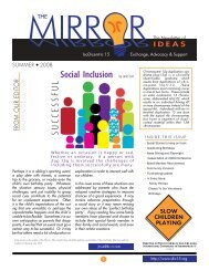 Summer 2008 - Social Inclusion - Ideas