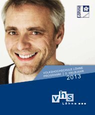 Zum Programmheft - VHS Löhne