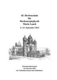 2013 - Herbstschule Maria Laach - Universität Siegen