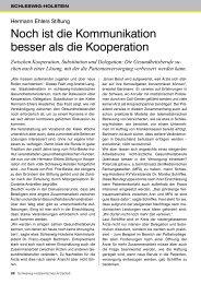 Noch ist die Kommunikation besser als die Kooperation - Schleswig ...