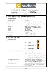 SDBL SOLVO N AEROSOL 2009 - Buchem Chemie + Technik ...