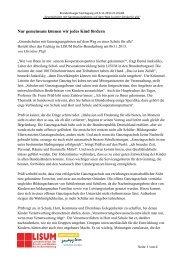 ihr Bericht - Bildungsserver Berlin - Brandenburg