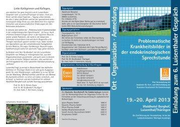 Flyer - Deutsche Gesellschaft für Endokrinologie