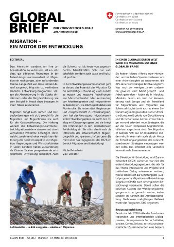 GLOBAL BRIEF Juli 2013 - Deza - admin.ch