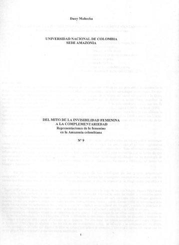 Dany Mahecha UNIVERSIDAD NACIONAL DE COLOMBIA SEDE ...