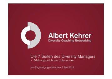 """Vortrag Albert Kehrer: """"Die 7 Seiten des Diversity Managers"""" - idm ..."""