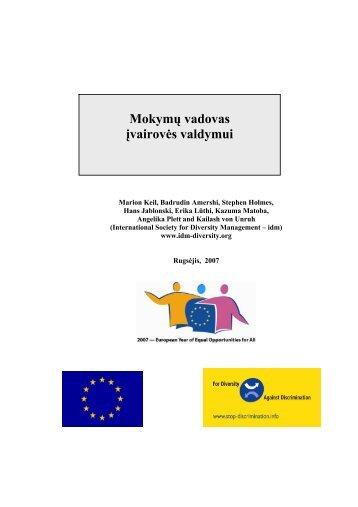 Training manual for diversity management - idm - International ...
