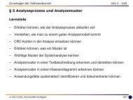 5 Analyseprozess und Analysemuster - Universität Stuttgart