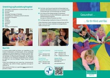 für Ihr Kind und Sie Gesundheit - Spessart-Klinik