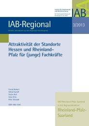 Attraktivität der Standorte Hessen und Rheinland-Pfalz für ... - IAB