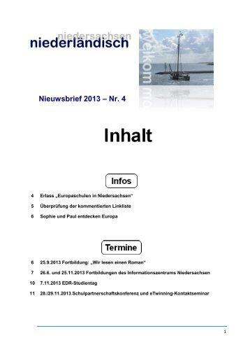 Nieuwsbrief 2013 – Nr. 4 - nline