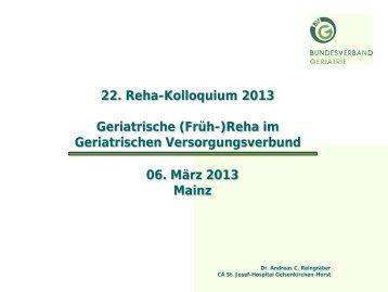 Geriatrischer Versorgungsverbund - Bundesverband Geriatrie