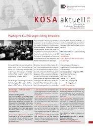 KOSA aktuell 03 2013 - Kassenärztliche Vereinigung Nordrhein