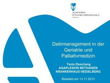 Delirmanagement in der Geriatrie und Palliativmedizin - EvKB