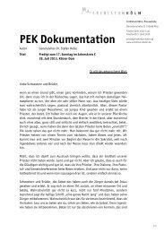 PEK Dokumentation - Erzbistum Köln