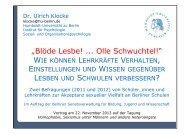 Präsentation von Dr. Ulrich Klocke