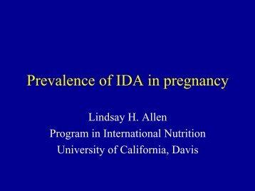 Prevalence of IDA in pregnancy - Idpas.org