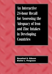 Interactive 24 hour recall for assessing iron and zinc intakes