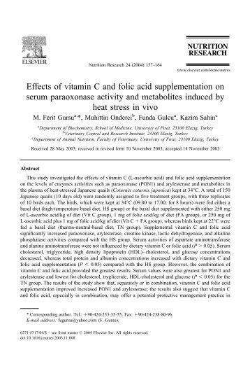 Effects of vitamin C and folic acid supplementation on ... - Idpas.org