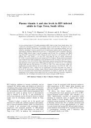 Plasma vitamin A and zinc levels in HIV-infected adults in ... - Idpas.org