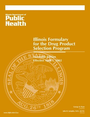 Illinois Formulary for the Drug Product Selection Program