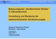 Präsentation Vortrag Strukturkonzepte - Gemeinde Senden