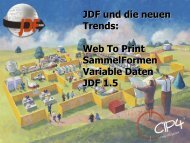 Web To Print SammelFormen Variable Daten JDF 1.5 - CIP4